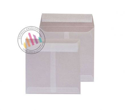 160 x 160mm - Translucent White Envelopes - 100gsm - Non Window - Peel & Seal