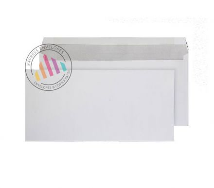 152 x 315 - White Mailing Envelopes - 100gsm - Non Window - Gummed