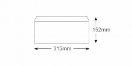 152 x 315 - White Mailing Envelopes - 100gsm - Non Window - Gummed - image 2