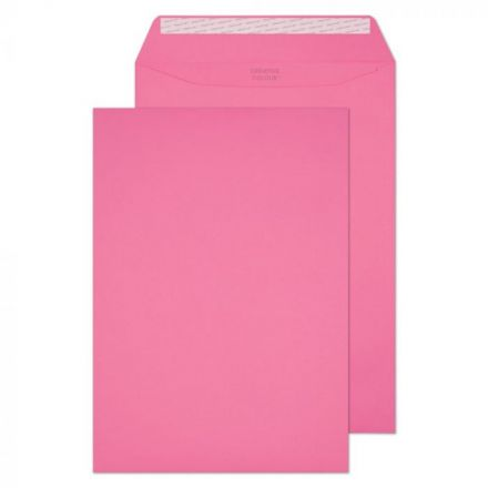 C4 - Flamingo Pink Envelopes - 120gsm - Non Window - Peel and Seal
