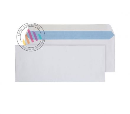 127 x 310 - White Mailing Envelopes - 100gsm - Non Window - Gummed
