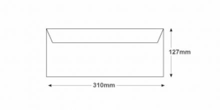 127 x 310 - White Mailing Envelopes - 100gsm - Non Window - Gummed - image 2