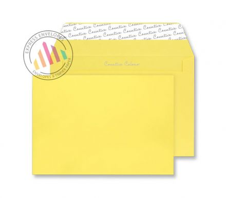 C4 -Banana Yellow Envelopes - 120gsm - Non Window - Peel and Seal