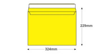C4 -Banana Yellow Envelopes - 120gsm - Non Window - Peel and Seal - image 2