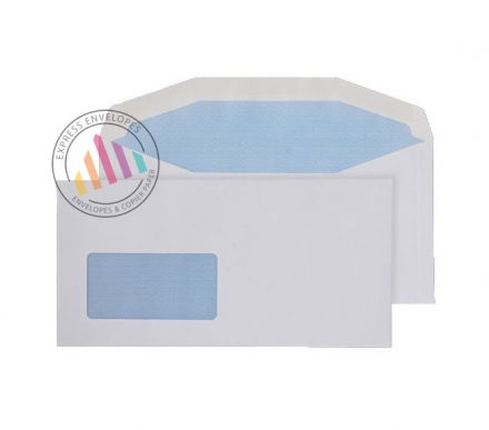 DL+ - White Mailing Envelopes - 80 gsm - Window - Gummed