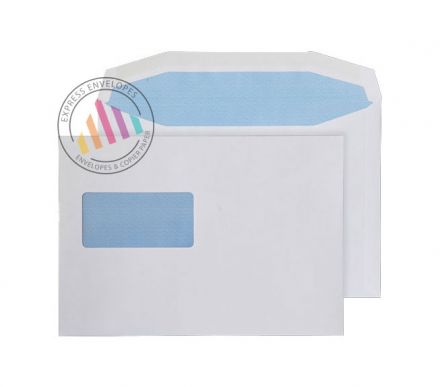 C5 - White Mailing Envelopes - 90gsm -Window - Gummed