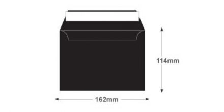 C6 - Jet Black Envelopes - 120gsm - Non Window - Peel & Seal - image 2