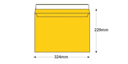 C4 - Egg Yellow Envelopes - 120gsm - Non Window - Peel and Seal - image 2