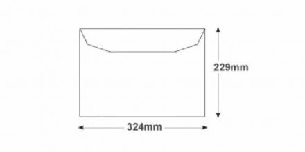 C4 - White Mailing Envelopes - 100gsm - Non Window - Gummed - image 2