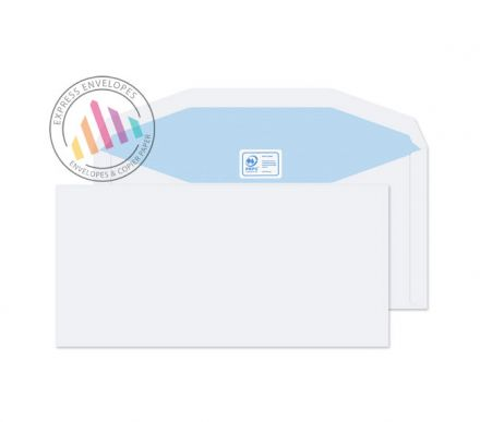DL++ - White Mailing Envelopes - 90gsm - Non Window - Gummed