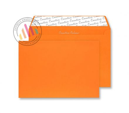C4 - Pumpkin Orange Envelopes - 120gsm - Non Window - Peel and Seal
