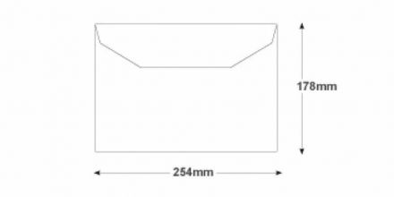 178 x 254 - White Mailing Envelopes - 90gsm - Non Window - Gummed - image 2