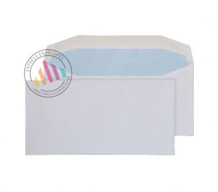 DL - White Mailing Envelopes - 110gsm - Non Window - Gummed
