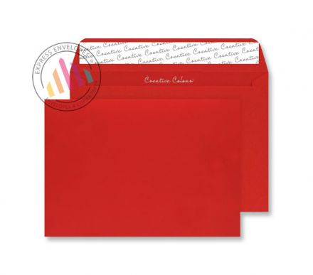 C4 - Pillar Box Red Envelopes - 120gsm - Non Window - Peel and Seal