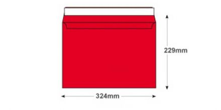 C4 - Pillar Box Red Envelopes - 120gsm - Non Window - Peel and Seal - image 2
