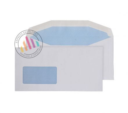 DL+ - White Mailing Envelopes - 110gsm - Window - Gummed