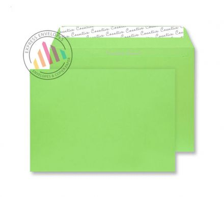 C4 - Lime Green Envelopes - 120gsm - Non Window - Peel and Seal