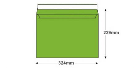 C4 - Lime Green Envelopes - 120gsm - Non Window - Peel and Seal - image 2