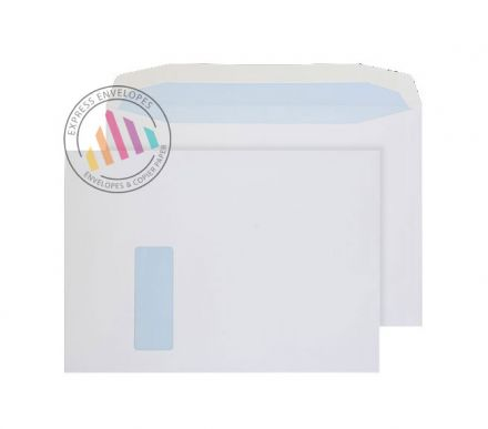 C4 - White Mailing Envelopes - 100gsm - Window - Gummed