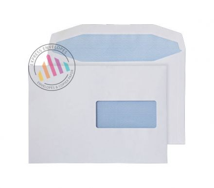 C5 - White Mailing Envelopes - 90gsm - Right Hand Window - Gummed
