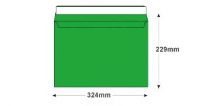 C4 - Avocado Green Envelopes - 120gsm - Non Window - Peel and Seal  - image 2