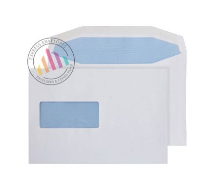 C5+ - White Mailing Envelopes - 90gsm - Window - Gummed