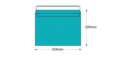 C4 - Cocktail Blue Envelopes - 120gsm - Non Window - Peel and Seal - image 2