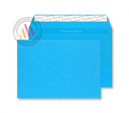 C4 - Caribbean Blue Envelopes - 120gsm - Non Window - Peel and Seal