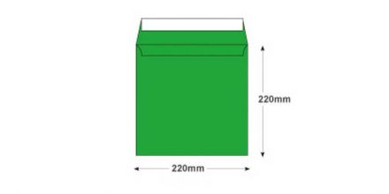 220x220mm - Avocado Green Envelopes - 120gsm - Non Window - Peel and Seal    - image 2