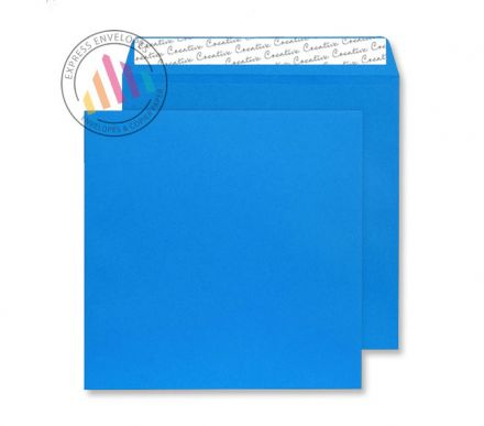 220×220mm - Caribbean Blue Envelopes - 120gsm - Non Window - Peel and Seal