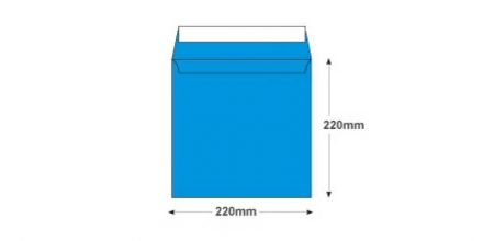 220×220mm - Caribbean Blue Envelopes - 120gsm - Non Window - Peel and Seal - image 2