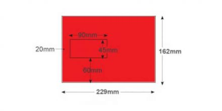 C5 - Pillar Box Red Envelopes - 120gsm - Window - Peel and Seal - image 2