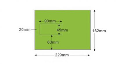 C5 - Lime Green Envelopes - 120gsm - Window - Peel and Seal - image 2