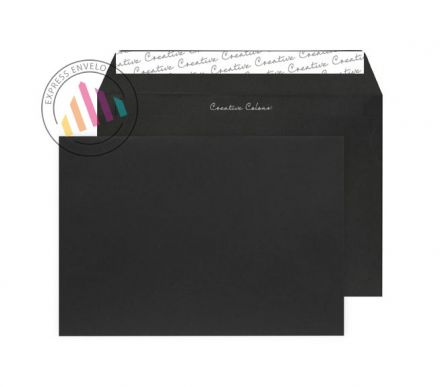C5 - Jet Black Envelopes - 120gsm - Non Window - Peel & Seal