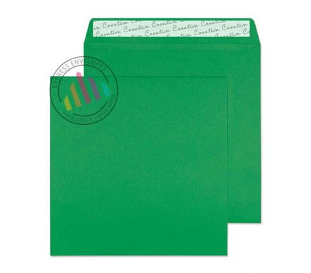 160×160mm - Avocado Green Envelopes - 120gsm - Non Window - Peel and Seal