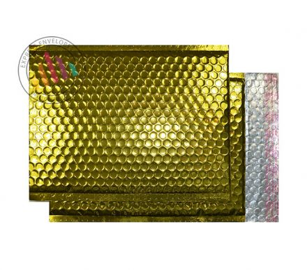 C5+ - Gold Padded Bubble Envelopes - Peel and Seal