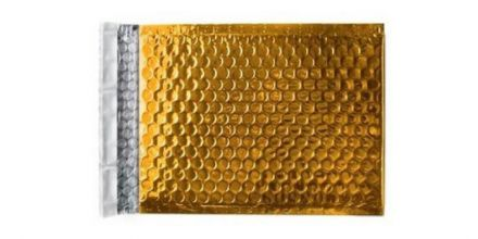 250×180mm - Glamour Gold Padded Bubble Envelopes - Peel and Seal - image 2
