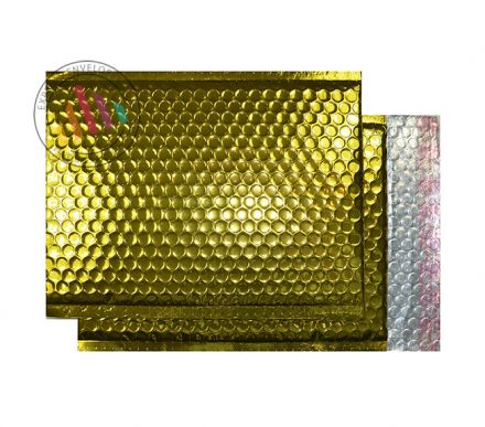 C4 - Glamour Gold Padded Bubble Envelopes - Peel and Seal