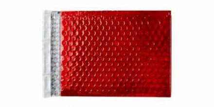 250×180mm - Festive Red Padded Bubble Envelopes - Peel and Seal - image 2