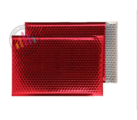 C4 - Red Padded Bubble Envelopes - Peel and Seal