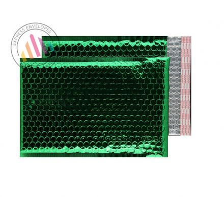 250×180mm - Emerald Green Padded Bubble Envelopes - Peel and Seal