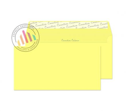 DL+ - Lemon Yellow Envelopes - 120 - Non Window - Peel and Seal