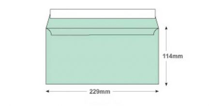 DL+ - Spearmint Green Envelopes - 120gsm - Non Window - Peel and Seal - image 2