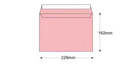 C5 - Baby Pink Envelopes - 120gsm - Non Window - Peel and Seal - image 2