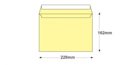 C5 - Lemon Yellow Envelopes - 120gsm - Non Window - Peel and Seal - image 2