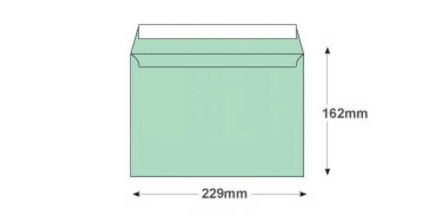 C5 - Spearmint Green Envelopes - 120gsm - Non Window - Peel and Seal - image 2